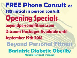 $35 initial in person consult or free phone consult and find out what specials are available for you.